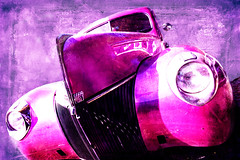 pink dream (madmtbmax) Tags: auto pink usa colour art ford car photoshop painting lights us nikon angle artistic photoshopped wide creative dream headlights hobby 1940s american hotrod vehicle oldtimer 20mm photoart voigtländer 40s d700