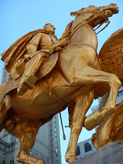 Sherman (and stallion) statue (C_Oliver) Tags: sky horse usa newyork statue bronze america spurs gold golden wings centralpark manhattan 5thavenue balls cape veins testicles hoof gilded spikes equestrian stallion grandarmyplaza generalsherman 59thstreet augustussaintgaudens reins williamtecumsehsherman