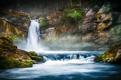 Giessenfall (brue') Tags: blue green nature water photography schweiz wasser foto nebel suisse svizzra natur bach dust svizzera milky belichtung thur langzeitbelichtung langzeit giessenfall