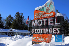 (Jean Arf) Tags: winter snow ice motel february adirondack adk 2015 seventhlake