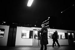 (bendikjohan) Tags: street winter bw white black film public oslo norway night subway photography blw fuji metro transport norwegian 1600 fujifilm neopan scandinavia bnw bl