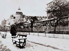 Promenade des Anglais à Nice, sous la neige, en février 1929... Reynald ARTAUD - météopassion (Reynald ARTAUD) Tags: yahoo google nice hiver promenade passion neige provence 1929 artaud février météo anglais reynald météopassion