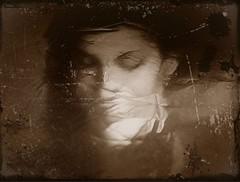 2016-03-19 soluble portrait 1 (april-mo) Tags: portrait blur reflection monochrome experimental blurred soluble experimentalphoto blurredportrait experimentalart experimentaltechnique solubleportrait