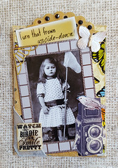 """Watch the Birdie ATC"" (Kathy Skaggs) Tags: artisttradingcard collage vintage butterfly butterflies vintagephotograph vintagecollage swapbot vintageephemera collageatc"