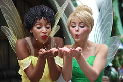 Tink and Iredessa (Caitlin Aline) Tags: tinkerbell fawn meetandgreet facecharacter silvermist facecharacters iredessa pixiehollow