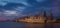 Working Girls (lisanelson2011) Tags: sunset sunrise harbor rainbow bigtree rockport shrimpboats gooseisland 2016