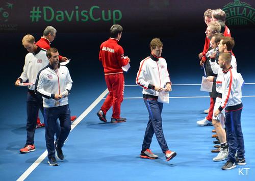 Yoshihito Nishioka - GB & Japan Davis Cup teams