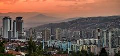 Sunset view from hotel, Sarajevo (Geir Halvorsen) Tags: panorama sarajevo ba privat bosniaandherzegovina federacijabosneihercegovine 201209jugoslavia stjerner2012