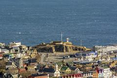 Skansin (Esbern Christiansen) Tags: ocean sea lighthouse house landscape ship outdoor fortress faroeislands faroe skansin trshavn skansinlighthouse