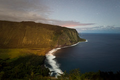 Waipio Valley Night (Hawaii Travel Photos) Tags: hawaii moonrise valley bigisland waipio hamakua