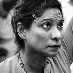 Singapore (ale neri) Tags: street portrait people blackandwhite bw woman singapore indian streetphotography thaipusam aleneri alessandroneri