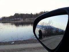 Grahovo  - Slovenia (3 anni) (ziomaurits) Tags: auto lake lago donna slovenia macchina marzo specchio fotografa specchietto fotografando slovenja cerkniko cerknica 2013 circonio