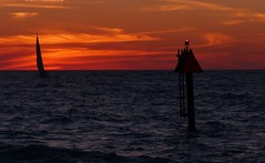 Home after Sunset   --   L1090578 (mshnaya) Tags: ocean camera leica light sunset southwest nature water sailboat port harbor photo marine flickr foto gulf florida yacht jetty south picture return sail marker navigation