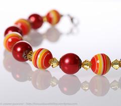 IMG_2866 (traccediscatti) Tags: life still giallo rosso perle gioielli bracciale accessori cristalli