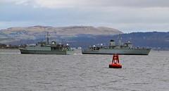 HMS Blyth & HMS Cattistock (Zak355) Tags: scotland riverclyde boat ship navy scottish vessel m31 minesweeper royalnavy bute rothesay isleofbute hmscattistock hmsblyth m111 minehunter