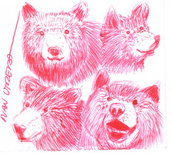 osos a lapicero (ivanutrera) Tags: bear wild animal pen oso sketch drawing wildlife draw dibujo lapicero osos boligrafo dibujoalapicero dibujoenboligrafo