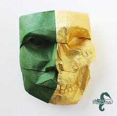 Vanitas (mitanei) Tags: life face paperart death skull origami vanity fading vanitas vergnglichkeit danielchang papierkunst faltkunst origamiskull origamimask origamihead keepfoldingon origamiface origamimaske origamigesicht