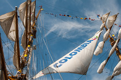 Colombia tallship @ Sail Amsterdam 2015 (2) (PaulHoo) Tags: life red sky people color green amsterdam work nikon colombia ship vibrant event sail dare sailor tallship bravery lightroom 2015