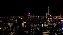 Fireworks Over Top Of The Rock (hiroshiken) Tags: usa newyork fireworks unitedstatesofamerica observatory rockefeller topoftherock