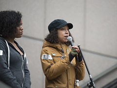 Speakers at a protest demanding police be prosecuted for the death of Jamar Clark (Fibonacci Blue) Tags: minnesota photo justice rally protest picture minneapolis police demonstration event mpls photograph speaker activism mn activist jamar prosecute fibonacciblue justice4jamar