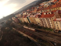 Nusle's roofs (markfromprague) Tags: city roof train republic czech prague praha