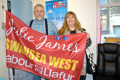 Julie James for Swansea West Flag