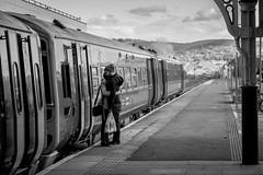 Last Hug (evans.photo) Tags: travel people train hug couple affection candid aberystwyth trainstation goodbye