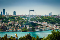 DSC06430 (Orhan Kl) Tags: city bridge sea turkey boat istanbul bosphorus otatepe sonya6000 helliosm442