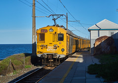 Departing Sunny Cove (jayayess1190) Tags: city railroad urban southafrica capetown trainstation commuter emu passenger commuterrail metrorail passengerrail sunnycove