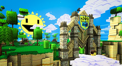 Warm Welcome (brian.mwit) Tags: games videogames 8bit gamephotography gw2 guildwars2 minecraft superadventurebox gw2sab