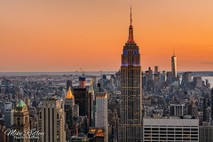 Top of the Rock (Mike Ridley.) Tags: sunset newyork empirestatebuilding rockefellercentre topoftherock freedomtower wtc1 mikeridley sony70200f4fe sonya7rll