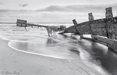 Groyne Strain (Glenn D Reay) Tags: sea seascape coast sand pentax wave coastal northsea bent groyne twisted blyth strained northeastengland k30 sigma1770hsm pentaxart glennreay