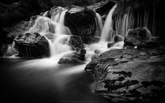 Elan Cascade (Richard Walker Photography) Tags: blackandwhite wales landscape waterfall rocks cascade elanvalley landscapephotography