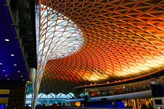 King's Cross Station (ncs1984) Tags: uk red england color colour building london station architecture modern train canon europe cross ngc transport kings trainstation kingscross amateur canonef1635mmf28 canonef1635f28 canon6d