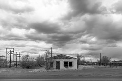 (el zopilote) Tags: street trees bw newmexico blancoynegro architecture clouds canon eos blackwhite noiretblanc nb bn powerlines fullframe digitalbw townscape magdalena smalltowns canonef24105mmf4lisusm 5dmarkii bndigital