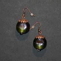 bronze (fabrikarine) Tags: fleur vintage collier bijoux plastic boucle fou cuivre doreille