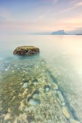 Baladrar rock (Explore 19-04-16) (Txeny4) Tags: sea sol canon atardecer agua calma 1022mm hitech texturas cala crepuscular transparencias peon largaexposicion 70d sedas baladrar lucroit txeny4