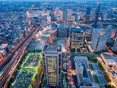 Night Flow (Ted Tsang) Tags: longexposure travel tower japan skyline night reflections landscape cityscape nightscape olympus  yokohama bluehour  minatomirai  magichour landmarktower observationdeck  em1 lighttrail  katsuragawa      21  1240mmf28