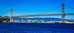 Bay Bridge - San Francisco CA (mbell1975) Tags: ocean sf sanfrancisco california ca bridge sea usa water america puente bay us san francisco unitedstates bur cove calif ponte most cal american pont bro brug brcke brig kpr bouwwerk