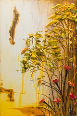 LS24X36-2016-093 (Justin Gaffrey) Tags: trees brown lake art nature yellow gold artist 30a lakescape artcollector coastaldunelake sowal justingaffrey