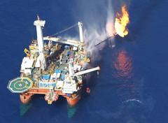 Rig flaring gas, june 2010, Macondo source (Gulf Restoration Network) Tags: june fire offshore platform aerial rig flare bp source 2010 drilling oilandgas