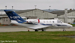 G-CMTO C525 Glasgow April 2016 (pmccann54) Tags: cessna525 gcmto