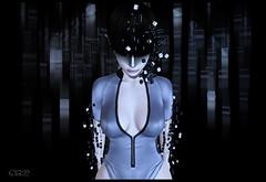 ca|159 ( ) Tags: blue art beauty matrix pose photography grey avatar sl attitude secondlife soul pixel cube scifi futurist secondilfe zibska