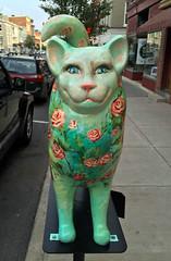 Sophie The Flower Princess  [from Cat'n Around Catskill] (ArtFan70) Tags: flowers sculpture usa ny newyork flower art animal statue america cat feline unitedstates sophie catskill pruiksma catnaroundcatskill sophietheflowerprincess sarapruiksma