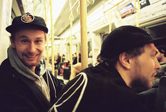 One very happy man (Rich Armitage) Tags: man london film smile smiling cheese 35mm canon underground lens happy very 28mm tube line iso 400 a1 analogue canona1 say metropolitan