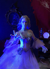"""Take my hand..."" (MaxxieJames) Tags: woman white lady toy action spirit ooak ghost haunted figure customized bianca custom phantom ghostly"