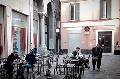 """Break Time"" (giannipaoloziliani) Tags: life street old city windows italy streetart art love coffee bar buildings walking relax real couple day break place angle liguria details citylife streetphotography atmosphere coffeeshop streetlife historic story genova tables mens streetphoto piazza arcs palaces coffeebreak reallife reportage oldplace urbanstreet tavolini lovetime giannipaoloziliani"