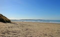 Walking The Dog (RoystonVasey) Tags: blue sea sky beach sunshine wales canon eos sand zoom walk m 1855mm stm snowdonia aberdovey aber snp dyfi