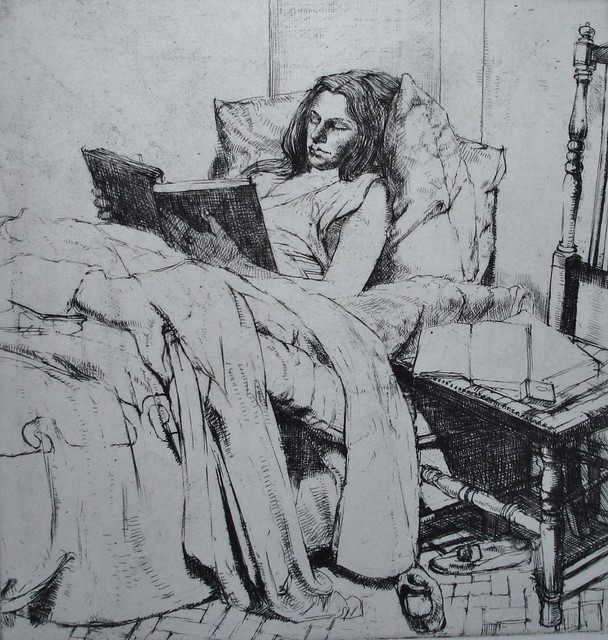 Gerrett-Jones 'Girl Reading in Bed'