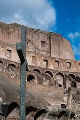 """Roma... sempre... """"Citt Eterna""""! (Luca Angelini) Tags: streetart roma luca silouette marco capitale valeria ramona hdr michela primopiano croce coppia legno colosseo motocicletta cristiani"""